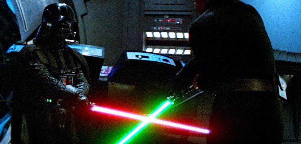 Darth Vader Fighting with Luke Skywalker Image Capture
