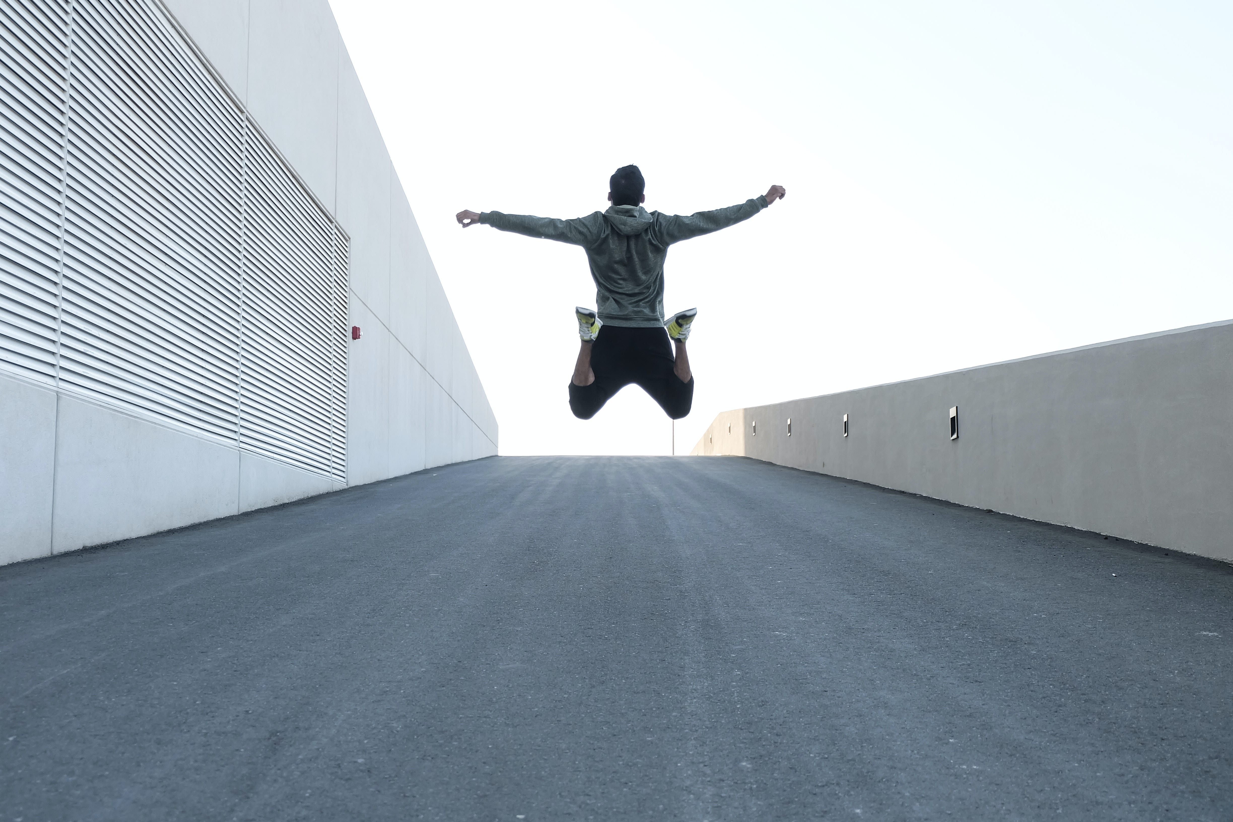 Image of a male jumping.