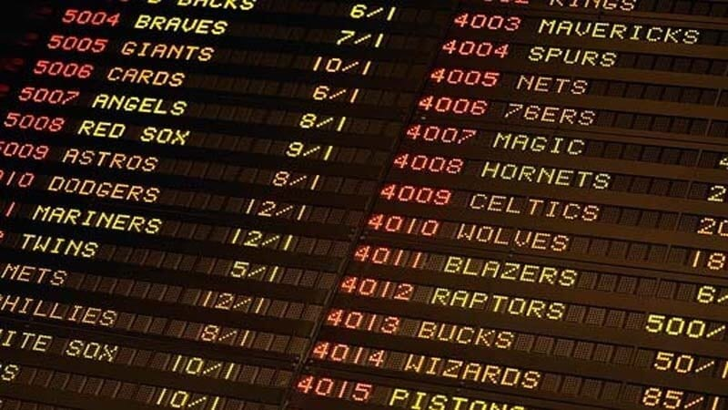 Image of a digital board with odds on there.