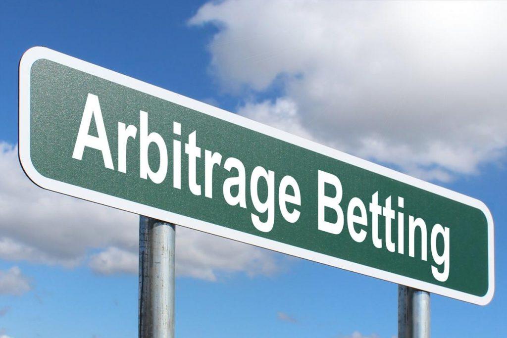 Image of arbitrage betting sign